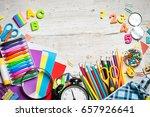 items for children's creativity ... | Shutterstock . vector #657926641