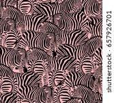 zebra seamless pattern. wild... | Shutterstock .eps vector #657926701