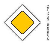 illustration of traffic yellow... | Shutterstock .eps vector #657927451