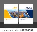 cover design for annual report... | Shutterstock .eps vector #657928537