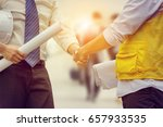 success and happiness concept ... | Shutterstock . vector #657933535