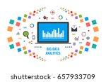 big data analysis   data... | Shutterstock .eps vector #657933709