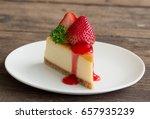 new york style cheesecake on... | Shutterstock . vector #657935239