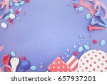 happy fourth of july bbq and... | Shutterstock . vector #657937201