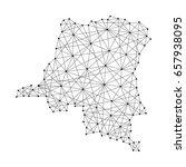 map of democratic republic of... | Shutterstock .eps vector #657938095