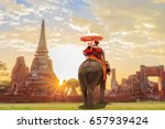 tourists lover on an ride... | Shutterstock . vector #657939424