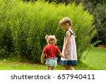 couple of little girls spending ... | Shutterstock . vector #657940411