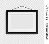 blank photo frame on the wall.... | Shutterstock .eps vector #657940474