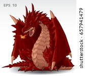red dragon fire breath vector