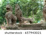 part of angkor wat architecture ... | Shutterstock . vector #657943021