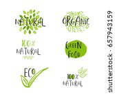 vector eco  bio green logo or... | Shutterstock .eps vector #657943159