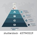 4 steps pyramid with free space ... | Shutterstock .eps vector #657945319