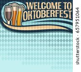vector poster for oktoberfest... | Shutterstock .eps vector #657951064
