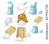 sugar set vector | Shutterstock .eps vector #657952735