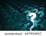 Stock photo question mark sign idea or problem concept background d illustration 657954937