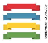 flat ribbons banners. ribbons... | Shutterstock .eps vector #657957019
