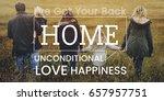 family parentage home love... | Shutterstock . vector #657957751