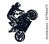 stunt rider | Shutterstock .eps vector #657964675