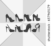 set of women shoes icon. | Shutterstock .eps vector #657965179
