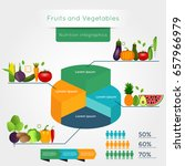 healthy vegetables infographics ... | Shutterstock .eps vector #657966979