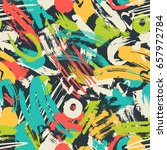 abstract camouflage seamless... | Shutterstock .eps vector #657972784