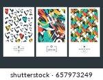 set of creative business card... | Shutterstock .eps vector #657973249