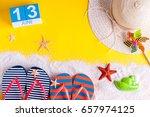 june 13th. image of june 13... | Shutterstock . vector #657974125