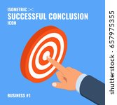 concept of success with hand... | Shutterstock .eps vector #657975355