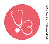 round icon stethoscope cartoon
