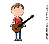 scribble faceless guitar man... | Shutterstock .eps vector #657983311