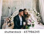 bride and groom  the bride and... | Shutterstock . vector #657986245