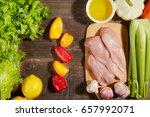 healthy diet italian lifestyle  ... | Shutterstock . vector #657992071