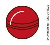 brightly red ball cartoon   Shutterstock .eps vector #657994621