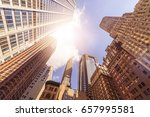 low angle shot of office... | Shutterstock . vector #657995581
