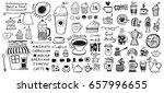 coffee doodles | Shutterstock .eps vector #657996655
