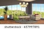 interior living room. 3d... | Shutterstock . vector #657997891