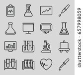 analysis icons set. set of 16... | Shutterstock .eps vector #657998059
