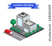 isometric building. icon or... | Shutterstock .eps vector #658002409