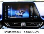 car interior  hybrid car eco... | Shutterstock . vector #658002691