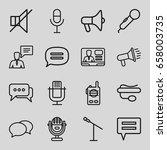 speak icons set. set of 16... | Shutterstock .eps vector #658003735