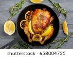 homemade baked chicken with... | Shutterstock . vector #658004725