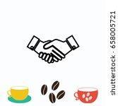 hand icon  vector eps 10... | Shutterstock .eps vector #658005721