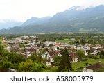 vaduz  liechtenstein top view.  | Shutterstock . vector #658005979