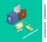 fund management isometric... | Shutterstock .eps vector #658006441