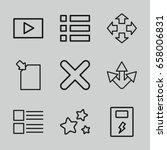 interface icons set. set of 9...
