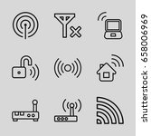 wifi icons set. set of 9 wifi... | Shutterstock .eps vector #658006969