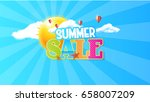 summer sale quality vector... | Shutterstock .eps vector #658007209