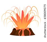 massive volcanic eruption... | Shutterstock .eps vector #658009075