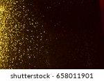 golden glitter texture... | Shutterstock . vector #658011901