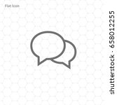 speech bubbles icon vector flat ...